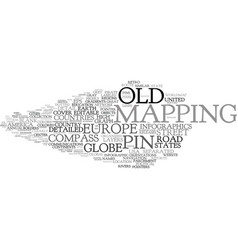 Mapping word cloud concept vector
