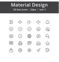 Material design line icons vector