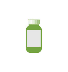 medicine bottle graphic design template vector image