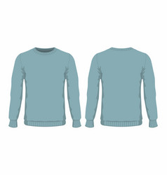 Mens blue sweater vector