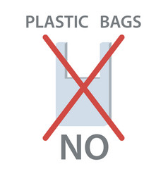 No plastic bag vector