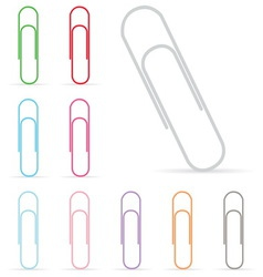 Paper clip isolated vector
