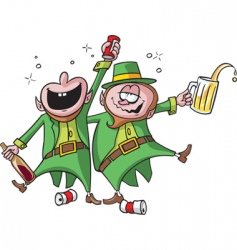 party leprechauns vector image