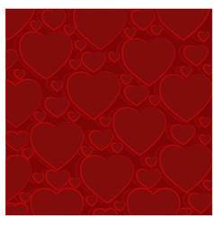 pattern of red hearts vector image