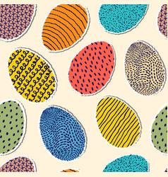 Pattern with eggs vector