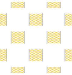 Perforated gate pattern seamless vector