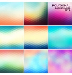 Polygonal backgrounds set vector image