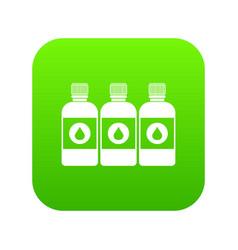 Printer ink bottles icon digital green vector