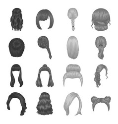 Quads blond braids and other types of hairstyles vector