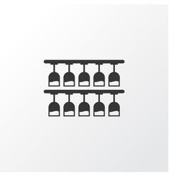rack with glasses icon symbol premium quality vector image