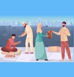 ramadan charity background vector image