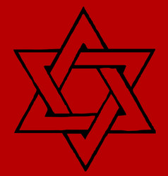 Red star of david vector