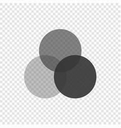 rgb palette icon vector image