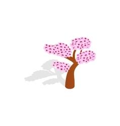Sakura tree icon isometric 3d style vector image