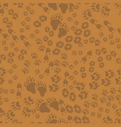 Seamless pattern animal trails vector
