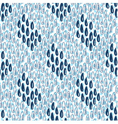 Seamless pattern with rain drops blue background vector
