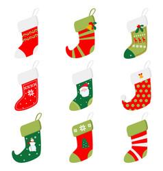 set different beautiful colored socks prepared vector image