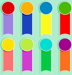 Set of multicolor tags-2 vector image