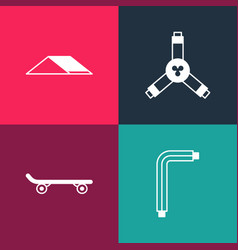 Set pop art tool allen keys skateboard y-tool vector