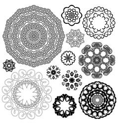 set vintage backgrounds guilloche ornamental vector image