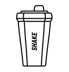 shake bottle icon outline style vector image