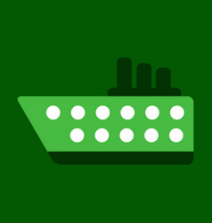 Ship icon flat pictogram on background symbol vector