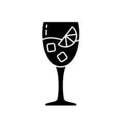 Silhouette aperol spritz outline icon glass vector