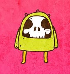 Skeleton Disguised as an Alien Cartoon vector image