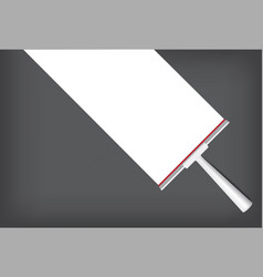 Squeegee mock up realistic cleaning object for vector
