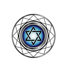 Star of David- Jewish religious symbol vector image