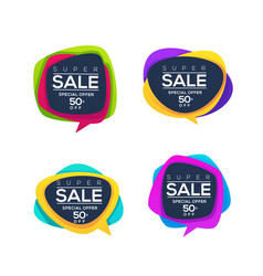 super sale collection of bright discount bubble vector image