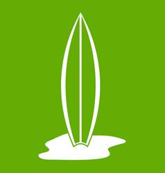 surf board icon green vector image