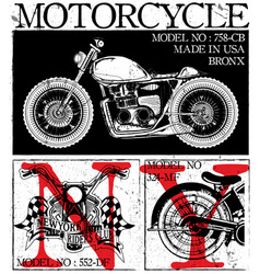 t-shirt or poster design with a motorcycle vector image