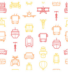 transport thin line seamless pattern background vector image