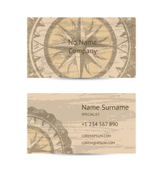 travel agency business card layout vector image