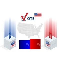 Us election 2016 infographic ballot box vector