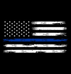 Us police flag - american vector