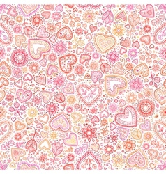 Valentines day artistic seamless background vector image