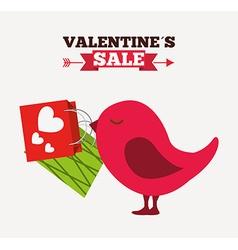 Valentines sale design vector