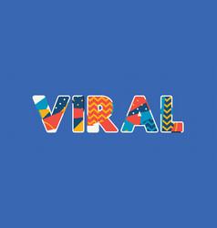 Viral concept word art vector