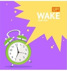 Wake Up Clock Concept Card vector