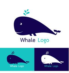 whale logo design vector image
