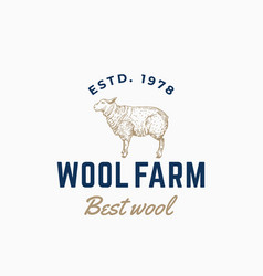 wool farm abstract sign symbol or logo vector image