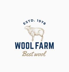 Wool farm abstract sign symbol or logo vector