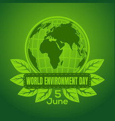 world environment day poster design vector image