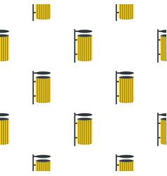Yellow litter waste bin pattern seamless vector
