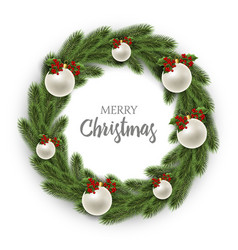 merry christmas or xmas and new year collection vector image vector image