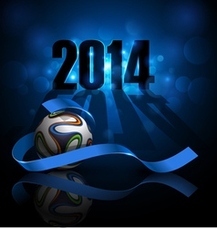 Sporty blue background with a soccer ball vector image vector image