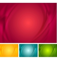 Abstract bright wavy backgrounds vector image vector image