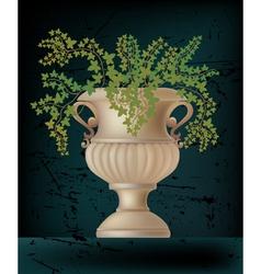 antique amphora on black vector image vector image